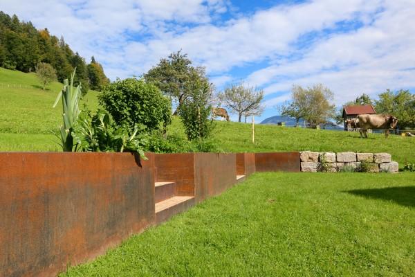 Sichtschutz aus Edelrost | Natur im Garten | Eyecatcher