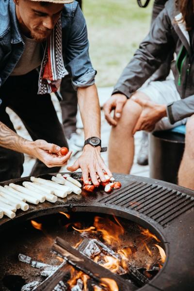 Feuerstelle mit Grillring | Grillplatte Gastro | Feuerplatte